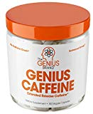 GENIUS CAFFEINE – Extended Release Microencapsulated Caffeine Pills All Natural Non-Crash Sustained Energy - Focus Supplement